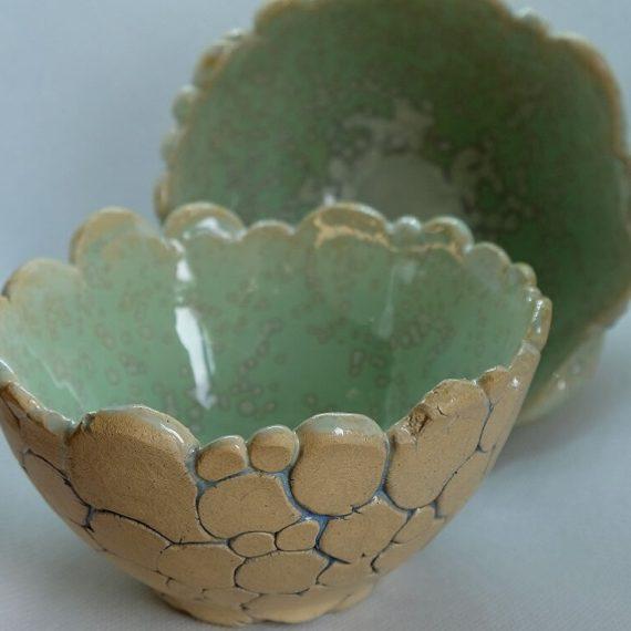 ceramika - miseczka seledynowa