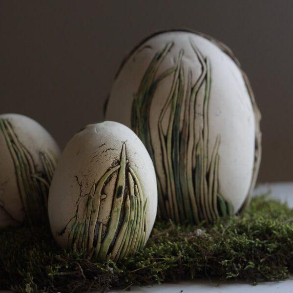jaja wielkanocne z ceramiki