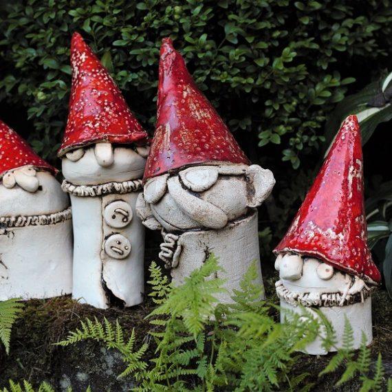 krasnale z ceramiki