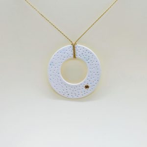 """Biżuteria porcelanowa """"Okrąg ze złotym punktem"""""""
